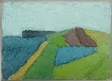 Beesands from the East by Richard Burt, Painting, Oil on canvas