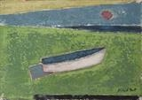 Boat on the Beach III by Richard Burt, Painting, Oil and Acrylic on Canvas