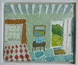 Devon Cottage Interior by Richard Burt, Painting, Oil on canvas