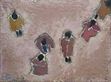 Group of People by Richard Burt, Painting, Oil and Acrylic on Canvas