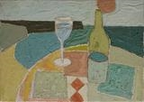 My Wine by Richard Burt, Painting, Oil on canvas