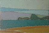 Rame Head from Bigbury by Richard Burt, Painting, Oil and Acrylic on Canvas