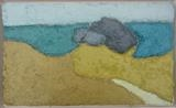Soar Mill Cove Beach by Richard Burt, Painting, Oil on Wood