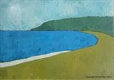 South Milton Sands II by Richard Burt, Painting, Acrylic on canvas