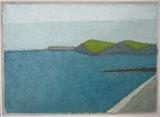 Start Point with Breakwater by Richard Burt, Painting, Oil on canvas